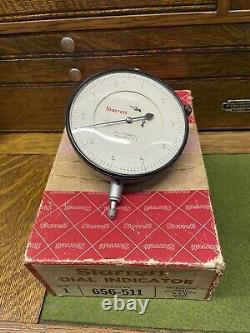 Starrett 3 5/8 Dial Indicator In Box 656-511.200 Range. 0001