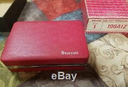 Starrett 50697 No. 196A1Z dial indicator kit vintage lite use, name engraved on