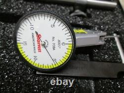Starrett 64219 709ACZ. 030 0-15-0 WF Dial Test Indicator withAccessories