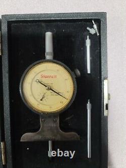 Starrett 644-441 Series Dial Depth Gauge, Indicator Type, 0-3 Range, 0.001