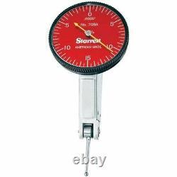 Starrett 64605 R709AZ. 030 0-15-0 Red Face Dial Test Indicator