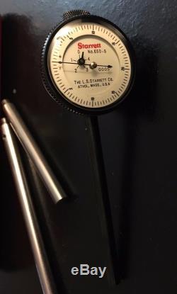 Starrett 650-5 Dial Indicator Kit. 0005 Grads, 0-20-0 Dial Back Plunger