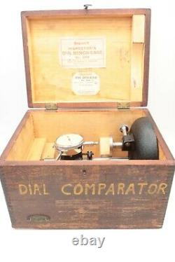 Starrett 654 Inspectors Dial Bench Gage with Dial Indicator 25-B. 001 0-25-0