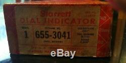 Starrett 655-3041-S Dial Indicator, 3.000 Measuring Range. 001 grad. EUC
