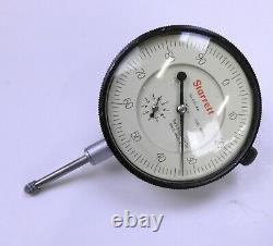 Starrett 655-441 Dial Indicator, 0-1.000 Range, 0-100.001 Grads