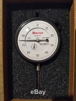 Starrett 655-441J Dial Indicator, 1.000 Measuring Range. 001 Graduation 0-100