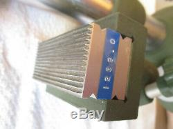 Starrett 655-511 Dial Indicator. 200 Range with CEJ Eskilstuna 513-1 Stand. 0001