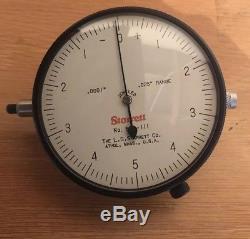 Starrett 656-111 Dial Indicator. 0001 Grad. 025 Range