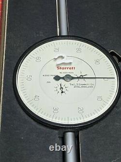 Starrett 656-4041 Dial Indicator. 001 Graduation 4 Range