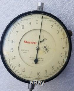 Starrett 656-617 Face Dial Indicator 1/10,000 (. 0001). 400 Range