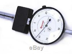 Starrett 656-8041J Dial Indicator 0-8.000 Long Range, 0-100.001 Grad