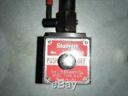 Starrett 657 Flex-o-post magnetic base indicator holder and 196 back plunger ind