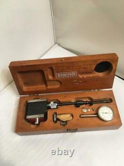 Starrett #657 Magnetic Base & 196 Indicator Set in Wood Case