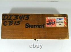 Starrett 657 Magnetic Base and Post Assembly with 196 Inductor in Wood Box
