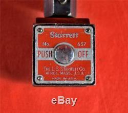 Starrett 657 Magnetic Base withFlex Post + Dial Indicator 0-2 /. 001