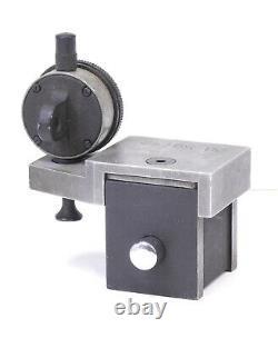 Starrett 657 Magnetic Holder with Starrett 81-138J Dial Indicator 0-100 Range