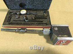 Starrett 657A Magnetic Base & 711 Last Word Dial Test indicator Machinist Tools