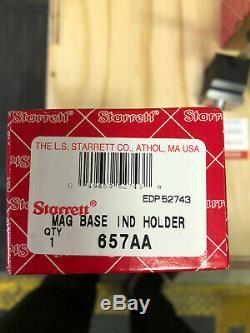 Starrett 657AA Magnetic Base Holder & Starrett 81-131J Dial Indicator