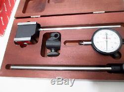 Starrett 657EZ Set Magnetic Base Dial Indicator Set 52751 Excellent