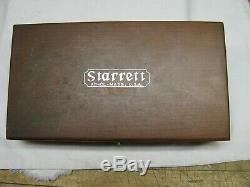 Starrett #657bz Magnetic Base With 711 Last Word Dial Indicator In Wood Case