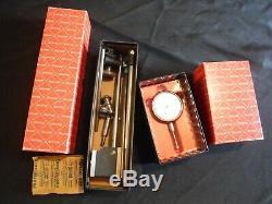 Starrett 657d & 25-341 Magnetic Base Holder & Dial Indicator In Boxes