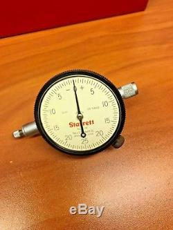 Starrett 659BZ Magnetic heavy Duty Base with 25-131 Dial Indicator and Metal Case