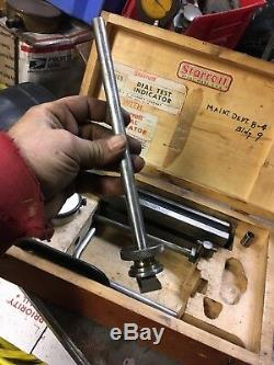 Starrett 665 Test Inspection Base Stand Set 25-131 Dial Indicator Machinist Tool