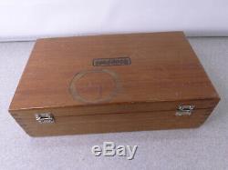 Starrett 665JZ Inspection Set with dial indicator gauge & original wood box