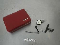 Starrett 708A Dial Test Indicator. 010 Range. 0001 Graduation + Accessories
