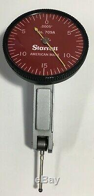 Starrett 709A Horizontal Dial Test Indicator. 030 Range. 0005 Graduation