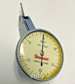 Starrett 709a Dial Test Indicator Fully Jeweled Carbide Point. 0005