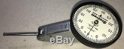 Starrett 709l Dial Test Indicator. 0005 Grads, 0-30-0 Dial, 1+1/4 Carbide Contact