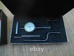 Starrett 711 T-1 Dial Indicator Last Word with Case Complete Set. 0001 USA