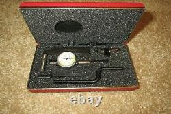 Starrett 711-T1SZ Last Word Dial Indicator. 0001 with Accessories, Case, USA