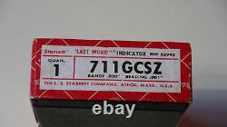 Starrett 711GCSZ. 030 0-15-0 Last Word Dial Test Indicator With7 Accessories