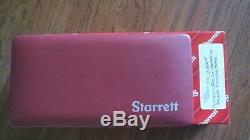 Starrett 711GCSZ. 030 0-15-0 Last Word Dial Test Indicator WithCase & Accessories