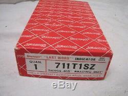 Starrett 711T1SZ Last Word Dial Indicator Gauge 711 T1SZ. 0001 Case Box Gage