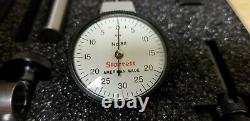 Starrett 811-5CZ Dial Indicator with attachments in case