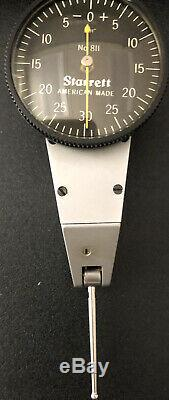 Starrett #811 Dial Test Indicator withswivel head. In Case withattachments