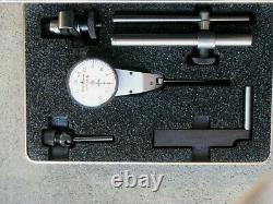 Starrett #811 Swivel Head Dial Indicator with Attachments in Case Used
