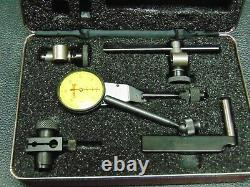 Starrett #811 Swivel Head Dial Test Indicator With Attachments & Case