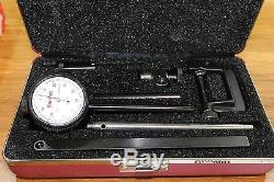 Starrett Back Plunger Dial Indicator Set with Deep Hole Attachment 0-0.2 0.001