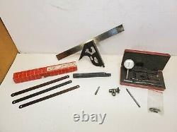 Starrett C11H-12-4R Combination Square, No. 196 Dial test Indicator & Extras