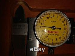 Starrett Caliper 120m Micrometer 216 m Dial Indicator 711 m in wooden case