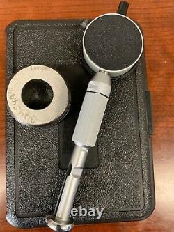 Starrett Cat. No. 82 dial bore gage & master set ring, 1.000 with. 0001 indicator