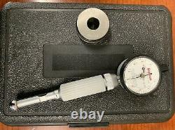 Starrett Cat. No. 82 dial bore gage with master set ring. 625 with. 0001 indicator