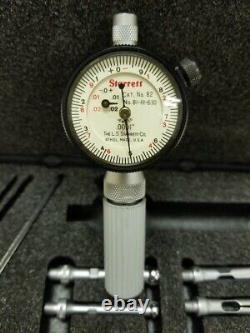 Starrett Dial Bore Gage 81-111-630 (Cat No. 82). 0001 with 4 Probes and Case