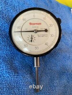 Starrett Dial Indicator, 1 Travel. 001 Grad. # 655-441