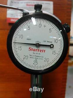 Starrett- Dial-Indicator-125-Range. 0005 Base Inspection Gauge USA No-25-131