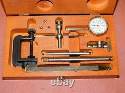 Starrett Dial Indicator 196A 196.001 Set with Wood Case